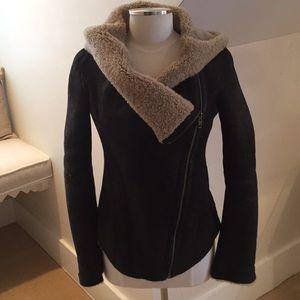 Helmut Lang Chocolate Brown Shearling jacket